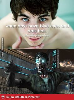When boys have blue eyes..