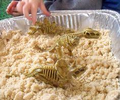 make, do & friend: Dinosaurs meet Moon Sand