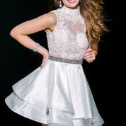 Stun the Crowd in Jovani Style 34004 Available at WhatchamaCallit Boutique