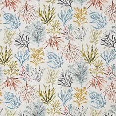 Panama Coral 1 – white - Maritime bagfavorable buying at our shop Seaside Theme, Nautical Theme, Stuart Graham, Jungle Scene, Buy Fabric Online, Printed Curtains, How To Make Curtains, Animal Alphabet, Tropical Design