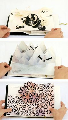 Modelling: PopUp Crafts: Bodoni Bedlam pop-up alphabet book by Victoria Macey . Kirigami, Up Book, Book Art, Paper Book, Paper Art, Arte Pop Up, Casa Pop, Diy And Crafts, Paper Crafts