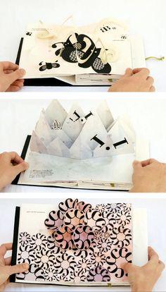 Bodoni Bedlam pop-up alphabet book by Victoria Macey