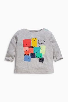 Buy Multi Long Sleeve T-Shirts Three Pack (0mths-2yrs) from the Next UK online shop