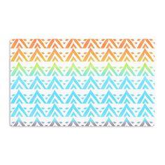 Kess InHouse Frederic Levy-Hadida 'Antilops Pattern' Multicolor Chevron Artistic Magnet