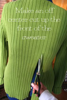 Ideas for diy clothes refashion sweater renegade seamstress Sewing Hacks, Sewing Tutorials, Sewing Crafts, Sewing Projects, Sewing Patterns, Diy Crafts, Diy Clothing, Sewing Clothes, Recycled Clothing