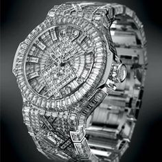 Many companies are targeting high-end buyers these days, but Hublot is taking it a step further, by introducing a watch loaded with more than 1,200 diamonds worth a cool $5 million.
