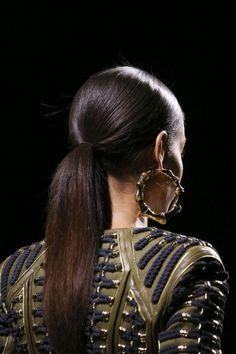 Fashion details | Comment: Creole Hoops.  BALMAIN