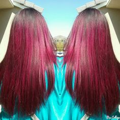 Magenta ombre/balayage I did last week using Joico in magenta. Hair by me, Isabel Camacho