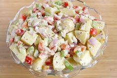 The Garden Grazer: Healthier Potato Salad Made with Greek yogurt and mustard. Healthy Cooking, Healthy Eating, Cooking Recipes, Healthy Recipes, Cooking Tips, Clean Eating, Vegan Potato Salads, Easy Potato Salad, Classic Potato Salad