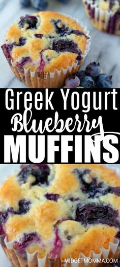 Breakfast Recipes These Greek Yogurt Blueberry Muffins are full of blueberries and perfect for when blueberries are in season. This healthy blueberry muffin recipe is one of our favorite muffin recipes. Healthy Breakfast Muffins, Healthy Muffin Recipes, Healthy Baking, Healthy Yogurt, Healthy Blueberry Desserts, Best Healthy Blueberry Muffin Recipe, Blueberry Recipes With Almond Flour, Blue Berry Muffins Healthy, Blueberry Breakfast Cakes