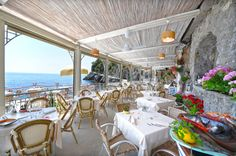 The Restaurant - Il Pirata terrace overlooking the sea between Amalfi and Positano - Via Terramare 84010 Praiano, Province of Salerno, Italy Tel +39 089 874377 email: info@ristoranteilpirata.net