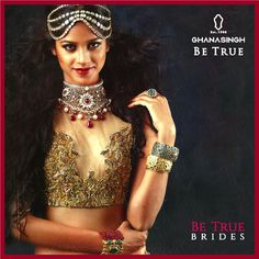‪#‎BeTrueBrides‬ resemble purity personified. This isn't a phenomenon resulting from their blush & grace, but from the inspiring choice to mix in the latest trends with their cultural traditions.