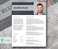 Free Elegant Resume Template | Bold Statement #free #cv #design