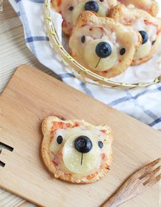 Mini Bear Pizzas...we think these look like so much fun to make with the kids!