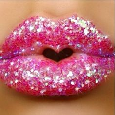 Looks like a donut, but love the heart between her lips.