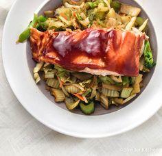 Quick and Easy Hoisin Salmon | Slender Kitchen  #WildAlaskaSeafood #CleverGirls