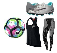 """""""soccer practice"""" by sillyemmy on Polyvore featuring NIKE"""