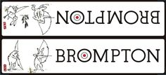 IKD Original BROMPTON Decal Beasts and Birds Black
