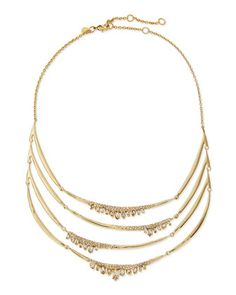 Jagged Marquise Crystal Bib Necklace by Alexis Bittar