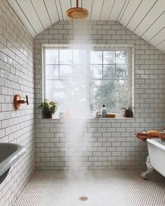 Amazing ideas for the bathroom shower, modern bathroom designs without door . - Amazing ideas for the bathroom shower, modern bathroom designs without door and with glass door – - Dream Bathrooms, Amazing Bathrooms, Luxury Bathrooms, Master Bathrooms, Houses Architecture, Small Bathroom With Shower, Rain Shower Bathroom, Shower Tub, Clawfoot Tub Bathroom