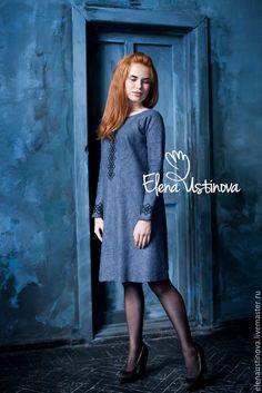 Купить Gray. Валяное платье. - темно-серый, абстрактный, серое платье, серый…