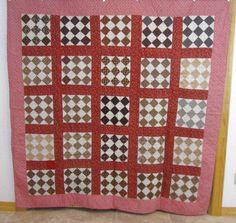 Civil War Browns 1890s Patchwork Vintage Quilt 79 x 78 Unused Crisp Pennsylvania | eBay