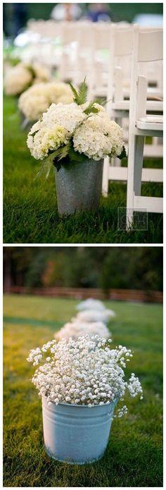 rustic country bucket wedding ideas #weddings #weddingideas #dpf #deerpearlflowers #countrywedding #country #rusticwedding / http://www.deerpearlflowers.com/rustic-buckets-tubs-wedding-ideas/ #rusticbeddingideas
