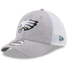 Philadelphia Eagles New Era Tech Sweep 39THIRTY Flex Hat - Heathered Gray/White - $25.99