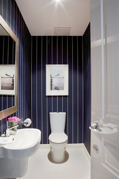 "Here's a trend that I can really go for: Bold & Glamorous Powder Rooms. I hesitate to call it a ""trend"" actually. Perhaps it would be better..."