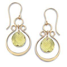 14K Yellow Gold Oro Verde Valencia Drop Earrings