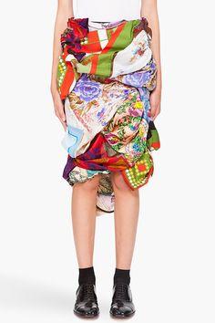 Comme Des Garçons Vintage Scarf Skirt