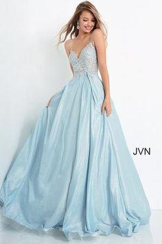Jovani 62523 Size 4 Long sheer Corset Mermaid Prom Dress Sheer cap sle – Glass Slipper Formals Stunning Prom Dresses, Beautiful Prom Dresses, Prom Dresses Blue, Dance Dresses, Pretty Dresses, Homecoming Dresses, Formal Dresses, Pastel Prom Dress, Party
