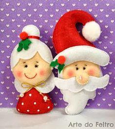 Another ornament idea! Ornament Crafts, Christmas Projects, Felt Crafts, Holiday Crafts, Felt Christmas Ornaments, Christmas Crafts, Merry Christmas, Felt Decorations, Christmas Decorations