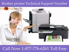 Brother Printer Technical Support Number @1-877-776-6261 (toll free) for USA and Canada. So don't hesitate call 24*7 our brother Printer toll free and get 100% assured result. Here you will be assisted by our certified and experienced experts for USA and Canada.  For more details you can visit to our website http://www.monktech.net/brother-printer-technical-support-number.html