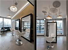 Modern Beauty salon Interior with classical Touch in Lithuania - SALON INTERIOR DESIGN