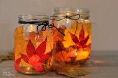 LoveAndLilies.de // Herbstlichter DIY: Aus Herbstblättern und Weckgläsern im Nu gezaubert