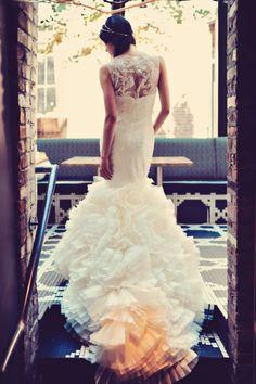 Stunning wedding dress: http://www.stylemepretty.com/canada-weddings/british-columbia/vancouver/2014/03/05/urban-inspired-wedding-inspiration-in-vancouver/ | Photography: Tamiz Photography - http://tamizphotography.com/