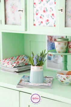 http://syllovesshabby.blogspot.de, Syl loves, minty, mint, GreenGate, spring, Cath Kidston