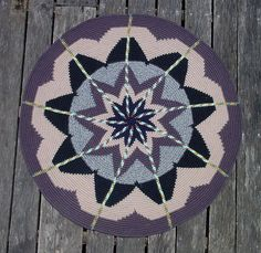 Twisted Copper, Twisted Gold - crochet rug
