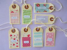 Made from Creature Comforts' pretty scrap fabric tag DIY tutorial