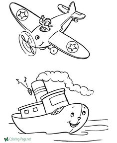 38 Best Airplane Coloring Pages