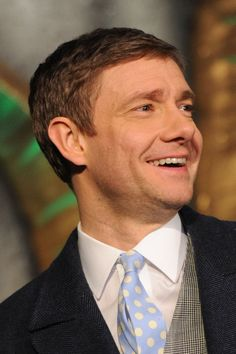 Martin smiles only when he wants to..