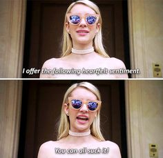 "Chanel Oberlin in Scream Queens ""Dorkus"" #allhqfashion http://www.allhqfashion.com/"
