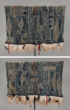 Africa | Ceremonial robe from the Bamileke people of Cameroon | Cotton, wool, hide and fur | ca. mid 20th century
