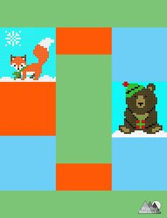 Big Brown Bear C2C Square Graph - Winding Road Crochet C2c Crochet, Crochet Baby, Crochet Patterns Free Easy Quick, Christmas Yarn, Big Brown, Winding Road, Brown Bear, Holiday Fun, Winter Wonderland