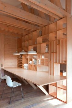 Świetny #design! #wooden #shelves #desk #minimalism #office #workspace officewarriors.pl