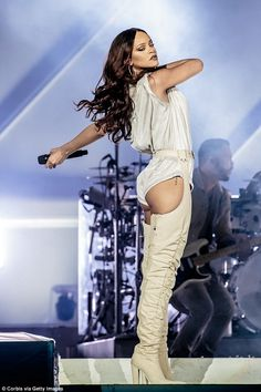 Not clear: Rihanna had performed in Milan, Italy, on Wednesday (pictured) and it is not kn...