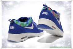 Nike Air Max Thea Print Diamond Azul / Branco / Laranja 599408-428 Masculino venda de chuteiras