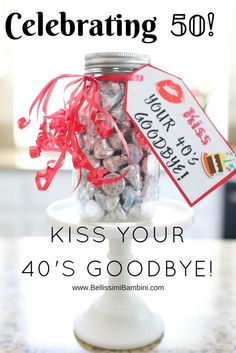 Kiss your goodbye! Bellissimi Bambini: DIY: A Fun… Kiss your goodbye! Bellissimi Bambini: DIY: A Fun Birthday Craft to Celebrate the a New Decade! Kiss your goodbye! Bellissimi Bambini: DIY: A. Happy 50th Birthday, Birthday Gifts For Sister, Best Birthday Gifts, 50th Birthday Presents, Birthday Weekend, Fiftieth Birthday, Birthday Beer, 50th Birthday Quotes, Birthday Images