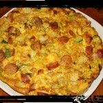Ομελέτα φούρνου με γραβιέρα και λουκάνικο Cookbook Recipes, Cooking Recipes, Appetizer Recipes, Appetizers, Sausage And Egg, Quiche, Macaroni And Cheese, Brunch, Food And Drink